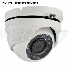 HD-TVI Camera, HD 1080P, Up to 65ft IR Distance, WDR Dome
