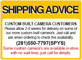 Advice spy camera shipping