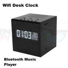 Desk Clock WiFi Camera Stereo Bluetooth Music Player