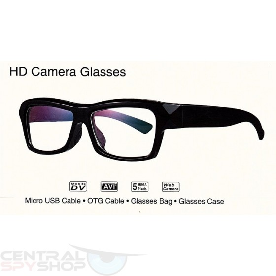 Optic Glasses - 720p Clear framed wearable video camera glasses