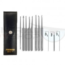 Eleven Piece Lock Pick Set With Metal Handles