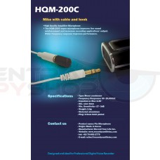 High quality Amplifier Microphone with extension cable and hook
