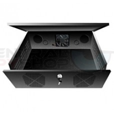 DVR and VCR Lock Box with Cooling Fan