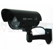 Wall Mounting Dummy Aluminum Bullet Camera with Blinking Red LED