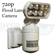 Security Motion Tracking Flood Light Spy Camera - 720P quality