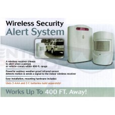 Wireless Security Alert System w/ Motion Sensor