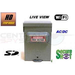 SecureShot HD-Live View-High Definition Utility Box SD DVR with WiFi Live Viewing from PC, Iphone or android. AC/DC Operation includes 50 Hour Battery Pack.