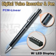 Digital Voice Recorder & Pen Linear PCM Recording High Quality VOS Function LCD Display Ultra Slim