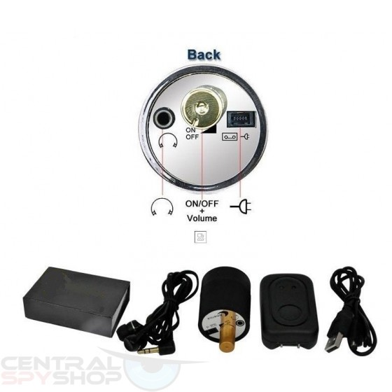 Wall Contact Microphone (Audio Listener for Rodents , Leaks, Bombs)