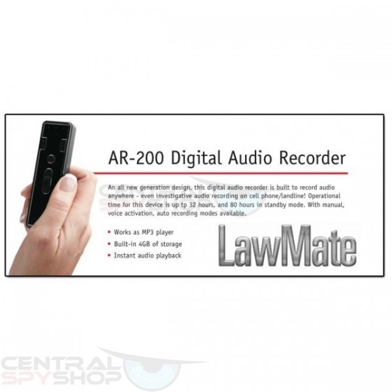 LawMate AR-200 - Digital Audio Recorder Kit