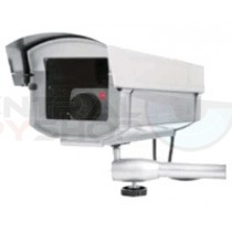 Wall Mounting Dummy Aluminum Bullet Camera with Blinking Red LED - LARGE