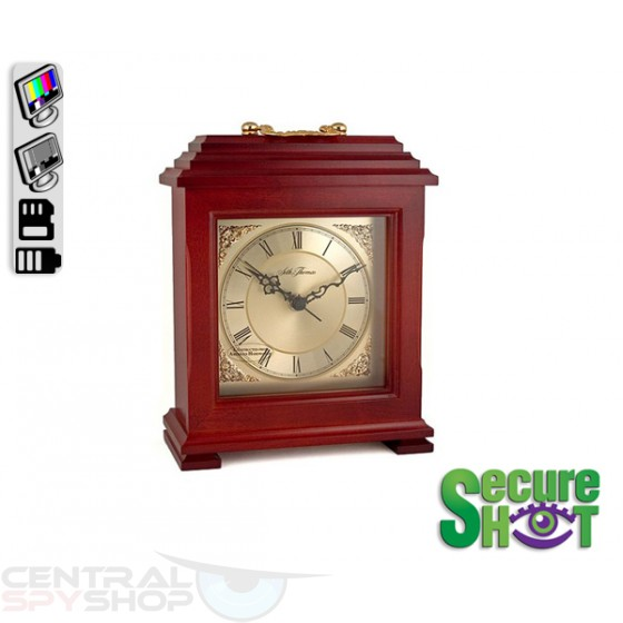 SecureShot Covert Camera Recorder Mantle Clock (Color System)
