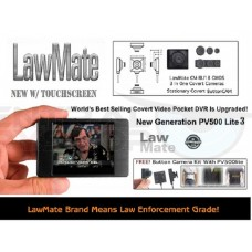 LawMate - PV500 Lite 3 - Covert Pocket DVR w/ FREE Button Camera Kit