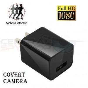 HD 1080P -  Covered Lens AC Plug Charger DVR Adapter Spy Hidden Camera Video (no audio)