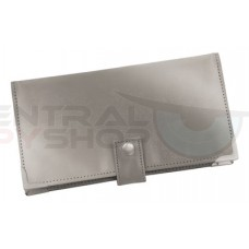 Stainless Steel Checkbook / Credit Card holder - Blocks RFID Scanning