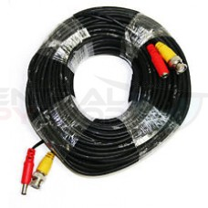 125 Feet Pre-made All-in-One BNC Video and Power Cable with Connectors for Security Cameras