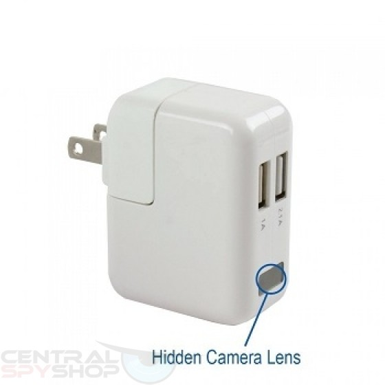Dual Port USB Mac / Apple Charger & Covert Camera