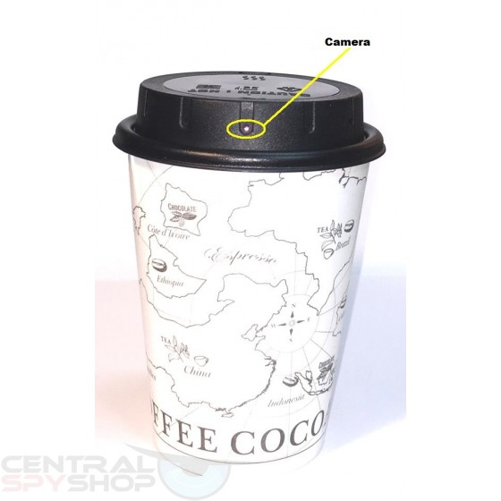 Lawmate - PV-CC10W Coffee Cup Lid Covert Video Camera DVR 1080p