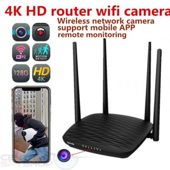 4k WiFi IP Wireless Camera Home Router Hidden Spy Recorder