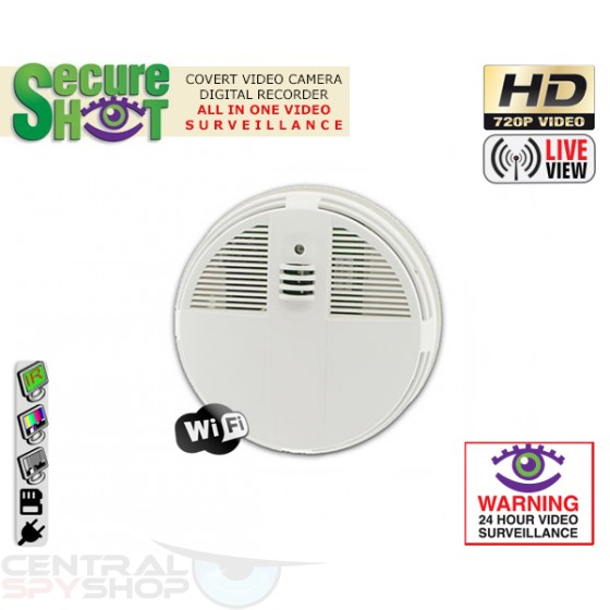 SecureShot Covert Camera Recorder HD Smoke Detector