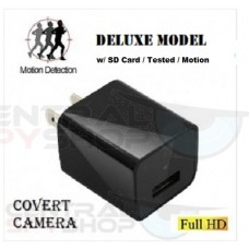 Covered Lens AC Plug Charger DVR Adapter Spy Hidden Camera Video