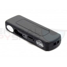 Matte Black USB flashdrive Audio Recorder w/ VOS