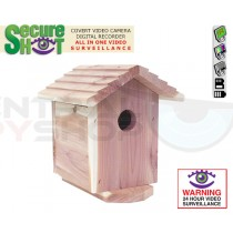 SecureShot Covert Camera Recorder Cedar Bird House