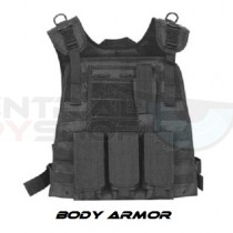 Body Armor w/ Military Black Vest (Ballistic Steel)