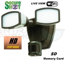 SecureShot HD-Live View-High Definition LED Motion Light SD DVR with WiFi Live Viewing from PC, Iphone or android.