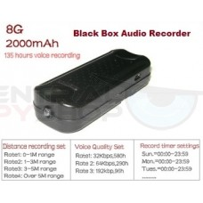 Black Box Audio Recorder - 135hr Battery 8GB High Quality