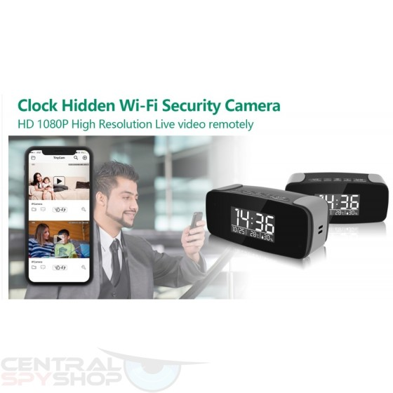 Tiny Clock Wifi Camera Security Home Live Streaming Video