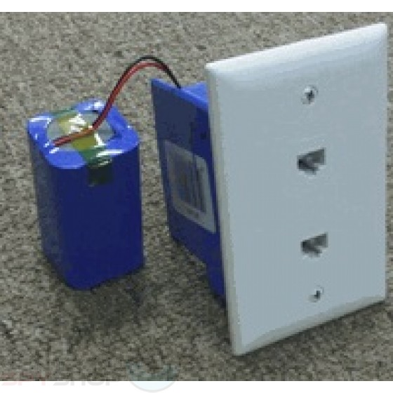 Battery Powered Telephone wall jack Spy Camera