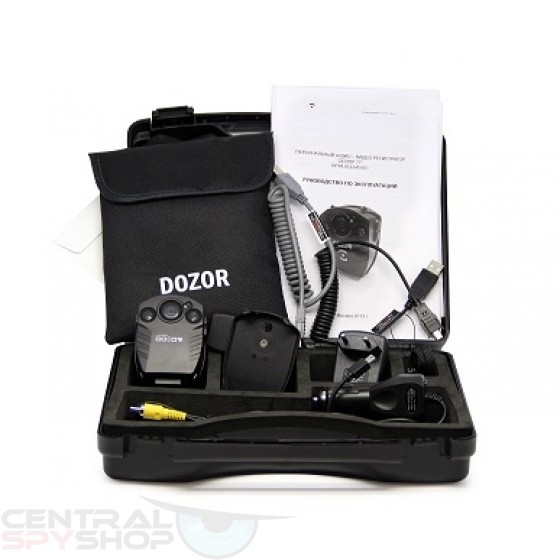 DOZOR - Military Grade Police Camera - Body worn or Dash w/ Rechargeable Battery