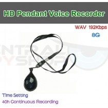 Pendant Necklace - Covert Audio Recorder w/ 40hr battery life