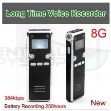 Long Time Digital Audio Recorder - 250 hours in WAV format