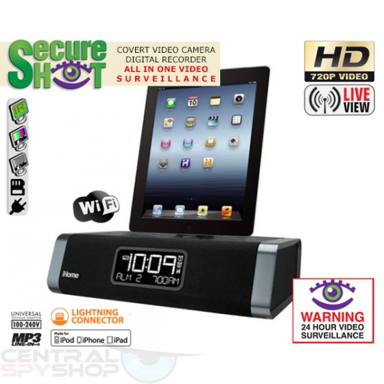 SecureShot Covert Camera Recorder HD iPhone 5 Dock Station