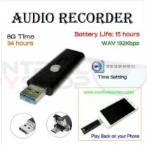USB Voice Recorder WAV/192Kbps Android / USB interface, Battery Time: 15hours, 8GB Memory