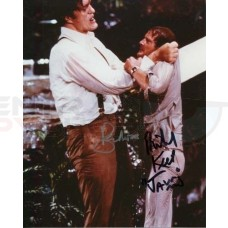 ROGER MOORE and RICHARD KIEL 007 JAMES BOND AUTHENTIC DOUBLE SIGNED AUTOGRAPH