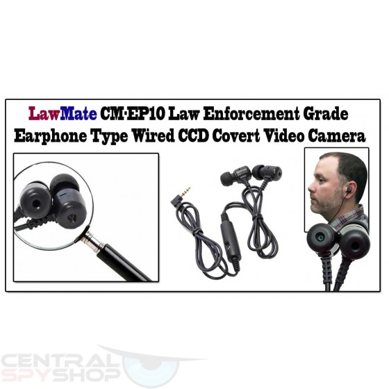 Lawmate -  CM-EP10 Earbuddy Earphone Spy Camera (for pocket DVR's)