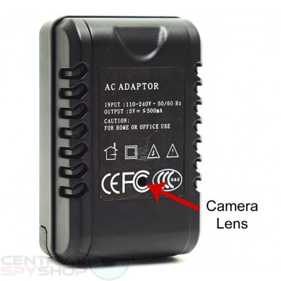 AC Adapter Spy Camera - w/ USB Phone Charger